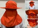 Xưởng may mũ chống nắng trùm mặt, che gáy - May gia công đồng phục in thêu logo theo yêu cầu
