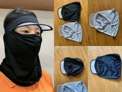 May gia công đồng phục giới thiệu xưởng may nón khẩu trang full mặt kèm mũ lưỡi trai trong suốt