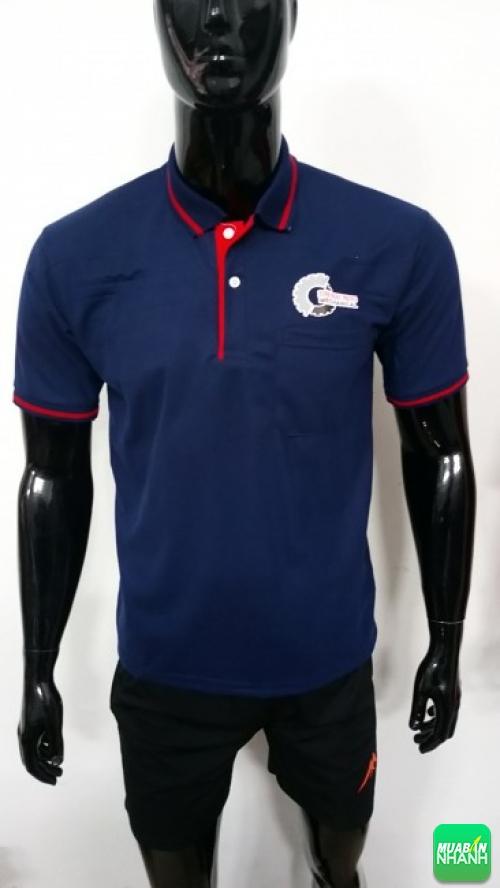 Mẫu áo thun đồng phục công sở - áo thun cá sấu PE xanh đen