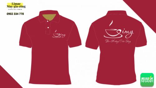 Mẫu áo thun đỏ - áo phục vụ cafe