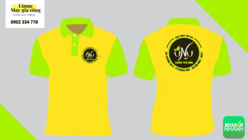 Mẫu áo thun vàng xanh lá mạ - áo phục vụ cafe