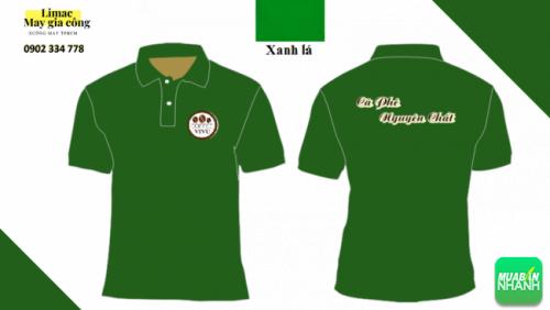 Mẫu áo thun xanh lá cây - áo phục vụ cafe