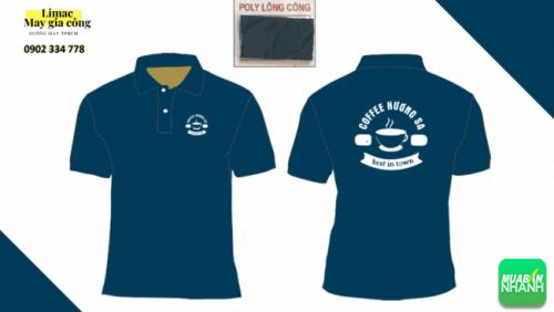 Mẫu áo thun xanh nước biển - áo phục vụ cafe